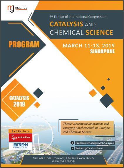 3rd Edition of International Congress on Catalysis and Chemical Science Program